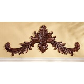 Design Toscano Baroque Architectural Wooden Wall Pediment