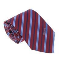 Missoni U5272 Red/Blue Regimental 100% Silk Tie - 60-3