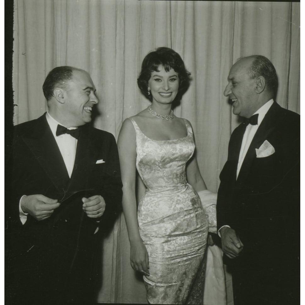 Shop Sophia Loren and Carlo Ponti wearing evening wear Photo Print ...