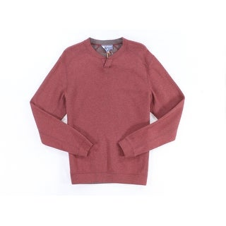 Tommy Bahama NEW Red Mens Size Small S Split-Neck Reversible Sweater