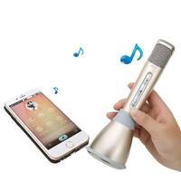 Kanstar Portable Wireless Karaoke Microphone,Built-in Bluetooth Speaker K68