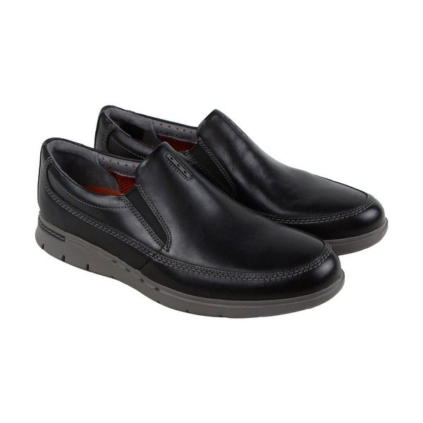Clarks Unbyner Easy Mens Black Leather Casual Dress Slip On Loafers Shoes