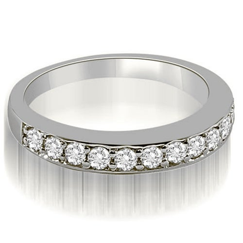 0.50 cttw. 14K White Gold Classic Round Cut Diamond Wedding Ring