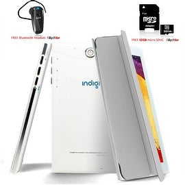 Indigi® 7inch Factory Unlocked 2-in-1 Android 4.4 Smartphone + TabletPC w/ Built-in Smart Cover + Bundle Included(Grey)
