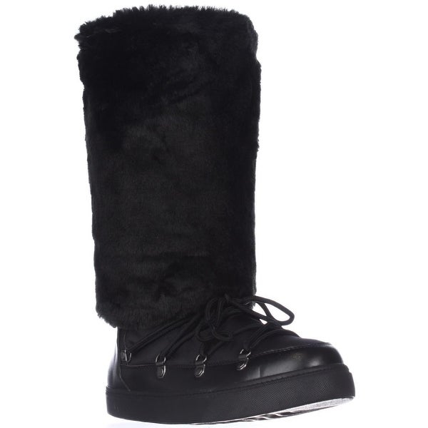 I35 Soffy Knee High Winter Boots, Black