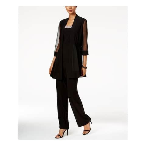 R&M RICHARDS Womens Black Evening Jacket Size 6