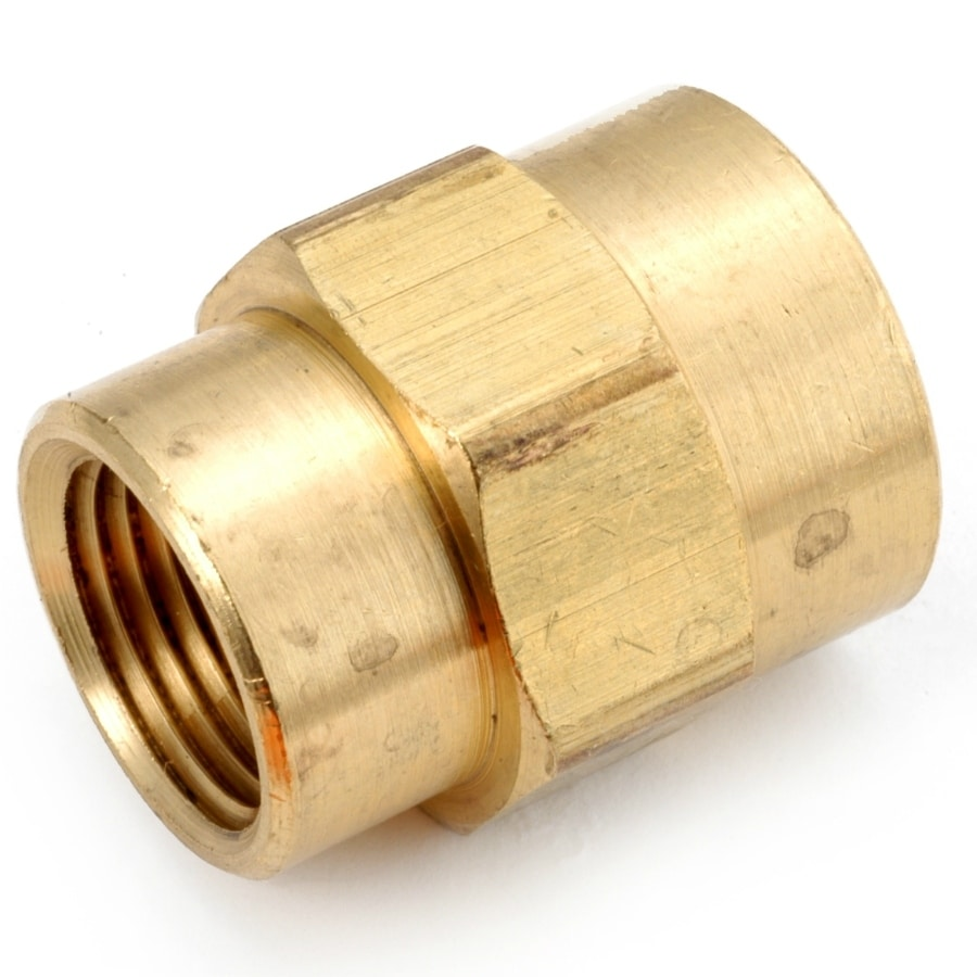 Anderson Metals 756119-0602 Lead Free Reducing Coupling, Brass, 3/8 x 1/8 FIP
