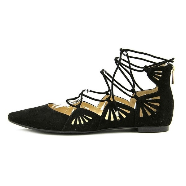 Jessica Simpson Womens zellen Fabric Pointed Toe Casual, Black, Size 7.0 - 7