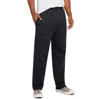 Hanes ComfortSoft EcoSmart Men's Fleece Sweatpants - Size - M - Color - Black