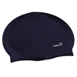 Ivation Silicone Solid Swimming Cap - Perfect for Competitive Swimming & Other Watersports (Blue)