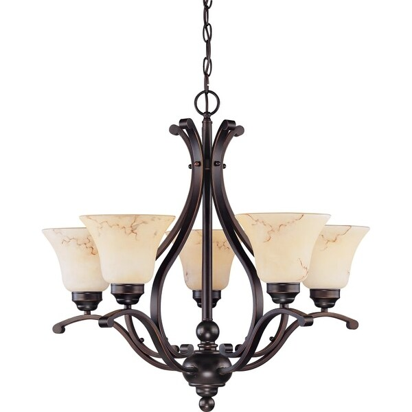 "Nuvo Lighting 60/1402 Anastasia 5 Light 23-5/8"" Wide Chandelier"