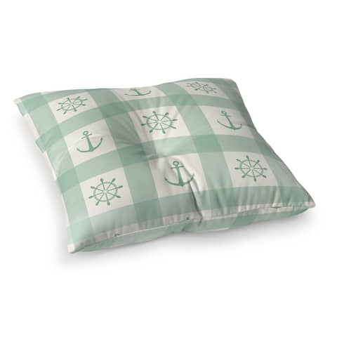 ANCHOR GALORE MINT Floor Pillow by Kavka Designs