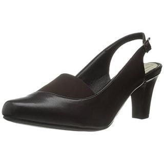 Easy Street Womens Pumps Faux Leather Toe Cap