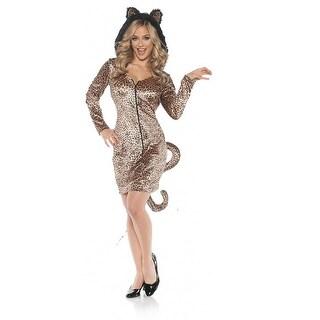 Leopard Mini Dress Adult Costume - Brown
