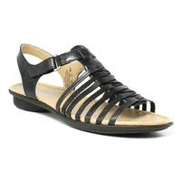 Naturalizer Womens E7790l1 Black Sandals Size 6.5