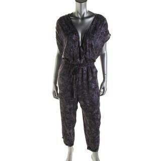 Free People Womens Knit Print Jumpsuit