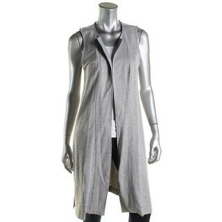 Kensie Womens Casual Vest Side Slit Sleeveless