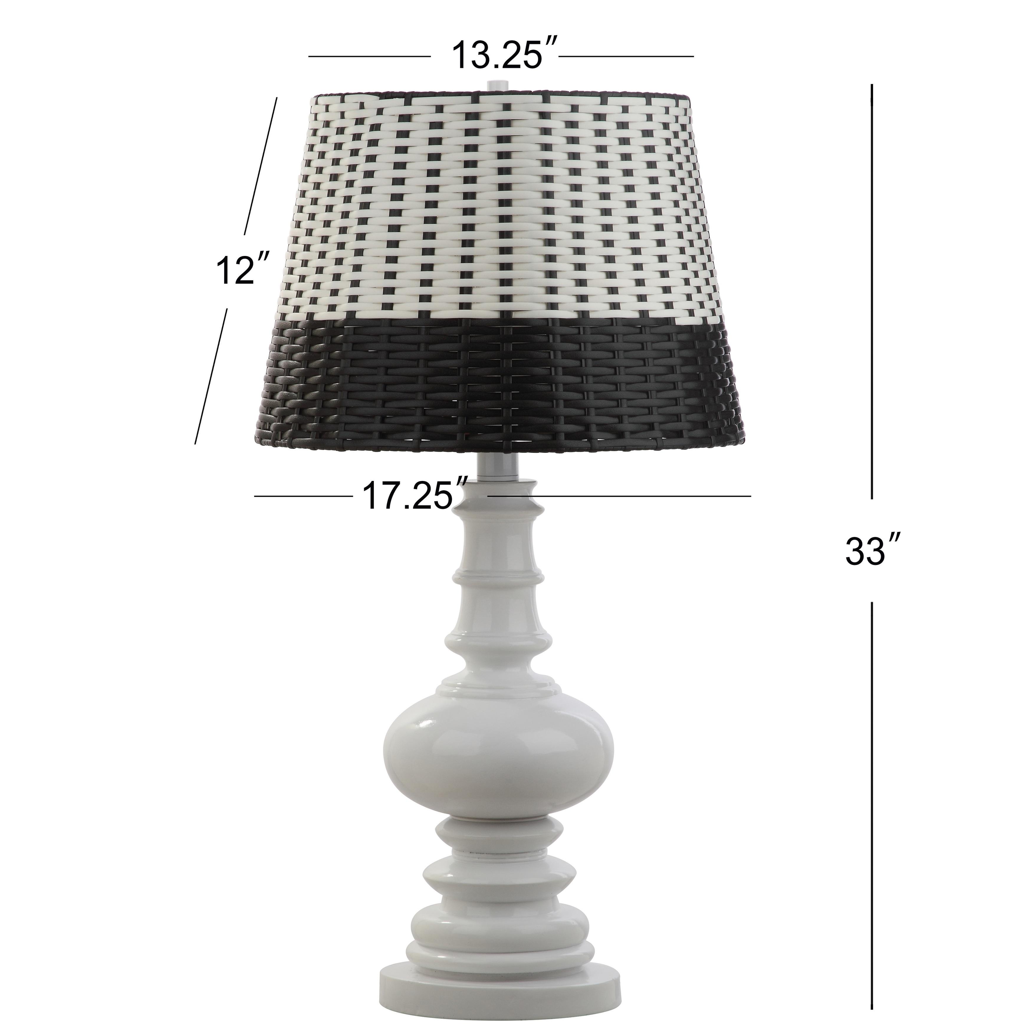 Safavieh Lighting 33 Inch Macen Woven Led Table Lamp 17 25 X17 25 X33 On Sale Overstock 19467423