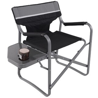 Costway Director Folding Chair W/Side Table Cup Holder