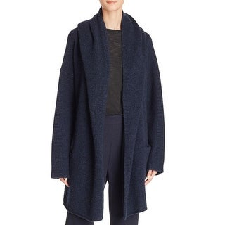 Vince Womens Hooded Sweater Hooded Robe - l