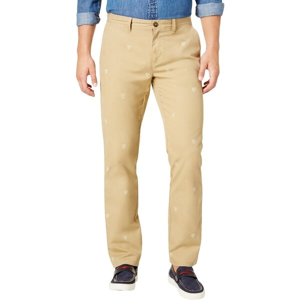 97b359eb Shop Tommy Hilfiger Mens Chino Pants Printed Custom Fit - Free ...