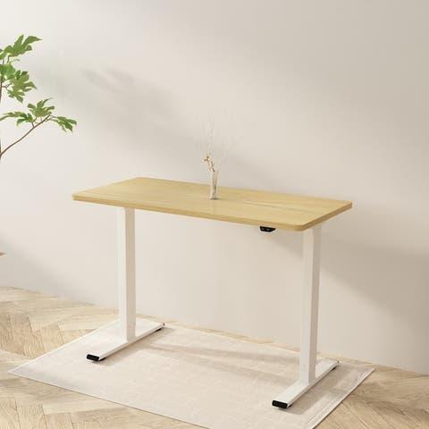 Flexispot Electric Standing Desk 48 x 24 Inches Height Adjustable Desk Sit Stand Desk Home Office Desks White