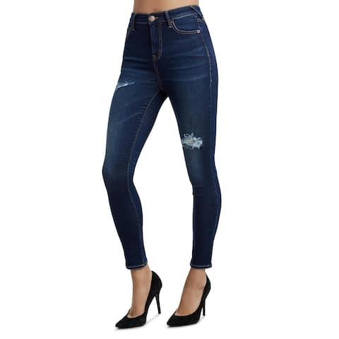 True Religion Womens Caia Jeans Ultra High-Rise Skinny - Blue Valley - 25