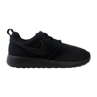 bd8781207ff5 Shop Nike Roshe One Black Black 599728-031 Grade-School - Free Shipping  Today - Overstock - 27993527