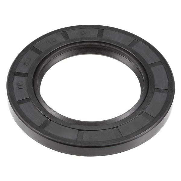 Oil Seal, TC 50mm x 80mm x 8mm, Nitrile Rubber Cover Double Lip - 50mmx80mmx8mm