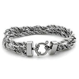 Stainless Steel Triple Braid Rope Chain Bracelet