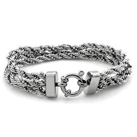 Stainless Steel Triple Braid Rope Chain Bracelet