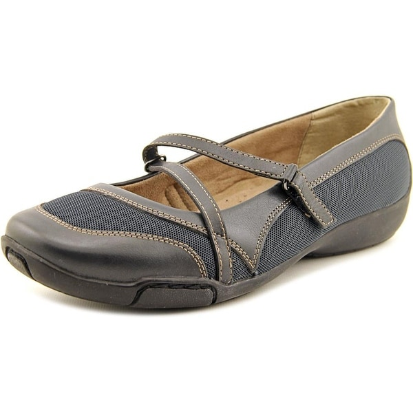Auditions Cresent Women N/S Round Toe Leather Blue Mary Janes