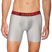 "Under Armour Men's Original Series 6"" Boxerjock Medium M Grey Boxer"