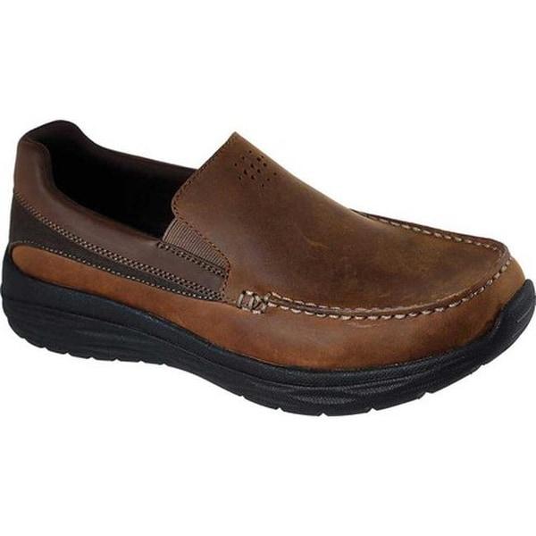 2c4ef4d5d81 Shop Skechers Men s Harsen Ortego Loafer Dark Brown - Free Shipping ...