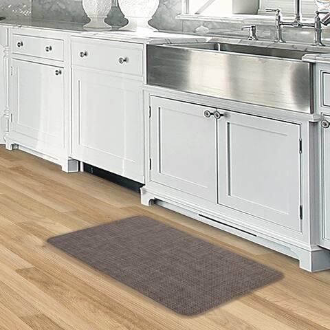 Nautica Texteline Anti-Fatigue Kitchen Mat, Dark Brown