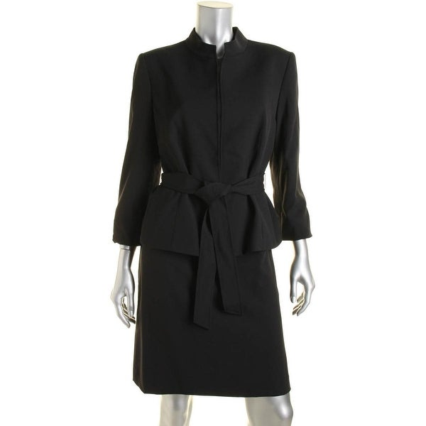 Tahari ASL Womens Petites Lucy Skirt Suit Lined 2PC
