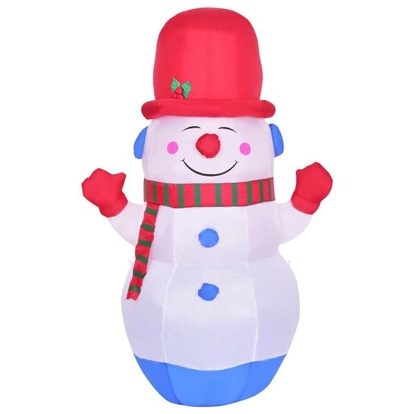 Shop Costway 6' Indoor/Outdoor Colorful LED Snowman