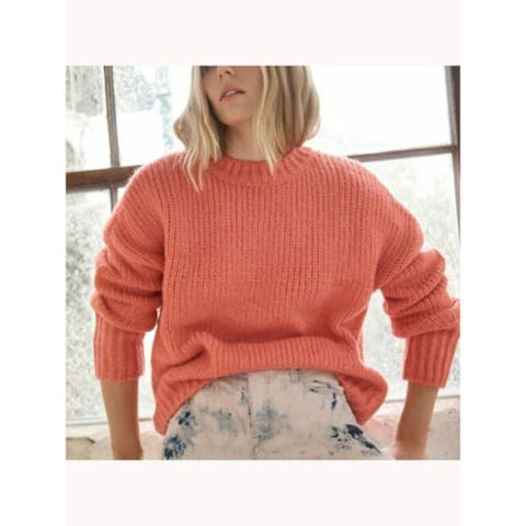 SANCTUARY Womens Pink Long Sleeve Crew Neck Sweater Size S