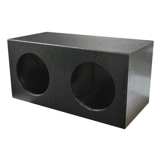 "Qpower Dual 10"" Sealed QBOMB Empty Woofer Box"
