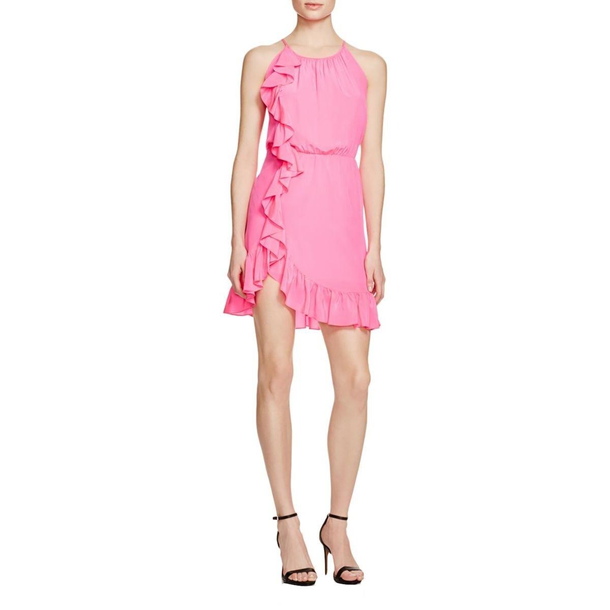 5d869ba3471 Shop Amanda Uprichard Womens Juniors Casual Dress Silk Cascade Ruffle -  Free Shipping Today - Overstock - 16796650