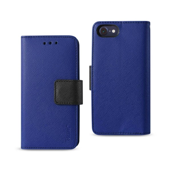 REIKO IPHONE 7 3-IN-1 WALLET CASE IN NAVY