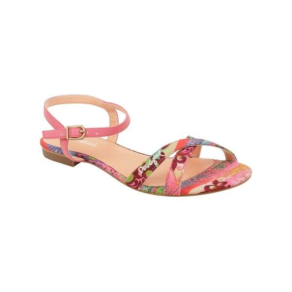 Desigual Women's Plana Sandals in Coral