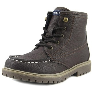 Nautica Cliffview Youth Round Toe Synthetic Brown Work Boot