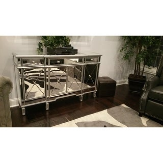 Gentil Shop Elegant Lighting 3 Drawer 4 Door Mirrored Cabinet   Free Shipping  Today   Overstock.com   11102351