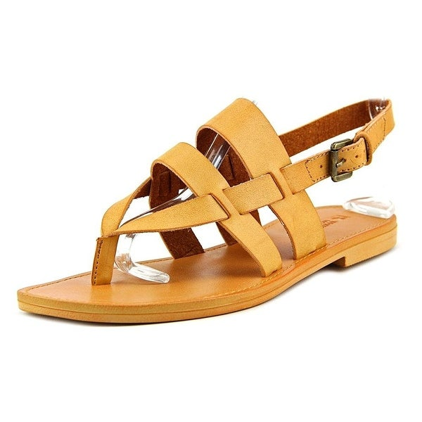 White Mountain Womens gloryroad Leather Split Toe Casual Slingback Sandals