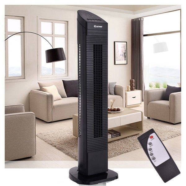 Costway 35'' Tower Fan Portable Oscillating Cooling Bladeless 3 Speed - Black