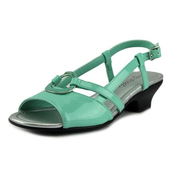 Easy Street Tempe Women W Open Toe Patent Leather  Sandals