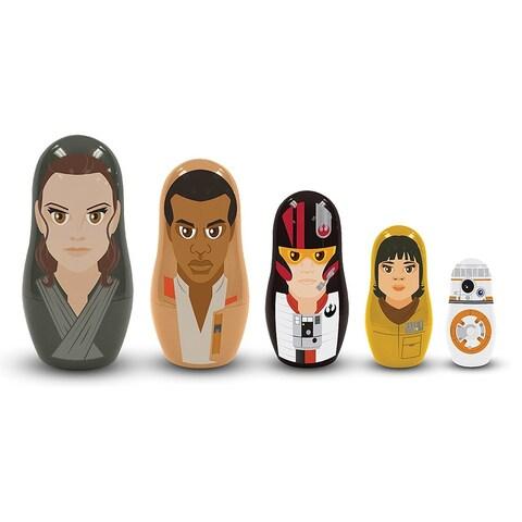 Star Wars: The Last Jedi The Resistance 5-Piece Plastic Nesting Dolls - multi