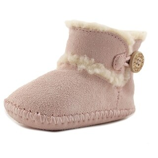 Ugg Australia Lemmy Infant Round Toe Leather Pink Winter Boot