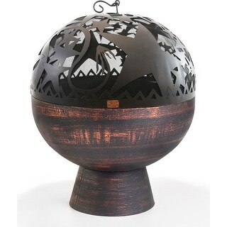 """26"""" Handcrafted Copper Fire Bowl with Orion Fire Dome"""